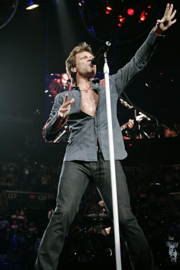 Bon Jovi presteert in overleg royalty-vrije stock fotografie