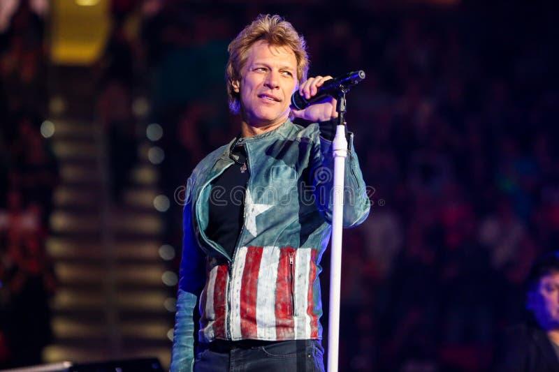 Bon Jovi vivent de concert images stock