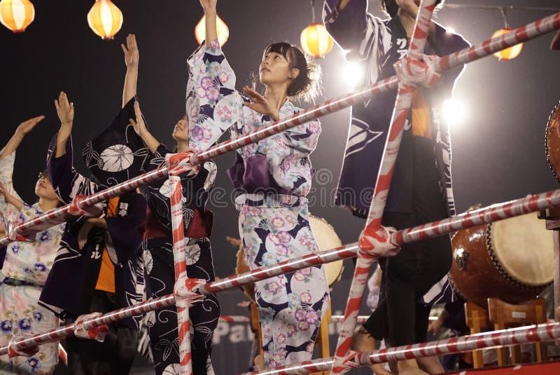 Bon Odori Dance Performance foto de stock