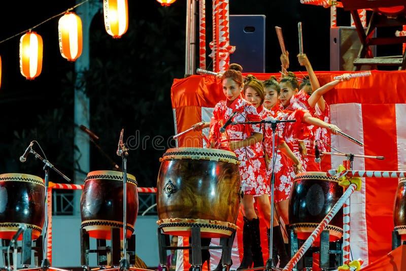 Bon-Odorifestival i Bangkok, Thailand royaltyfria foton