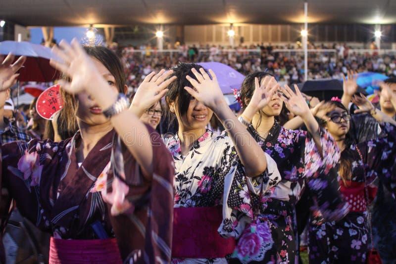 Bon-Odorifestival i schah Alah, på September 5, 2015 arkivfoto