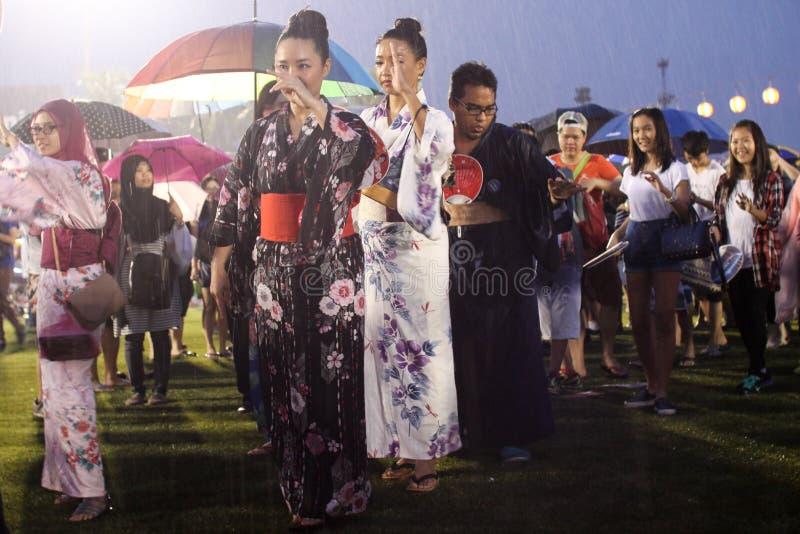 Bon-Odorifestival i schah Alah, på September 5, 2015 royaltyfri fotografi