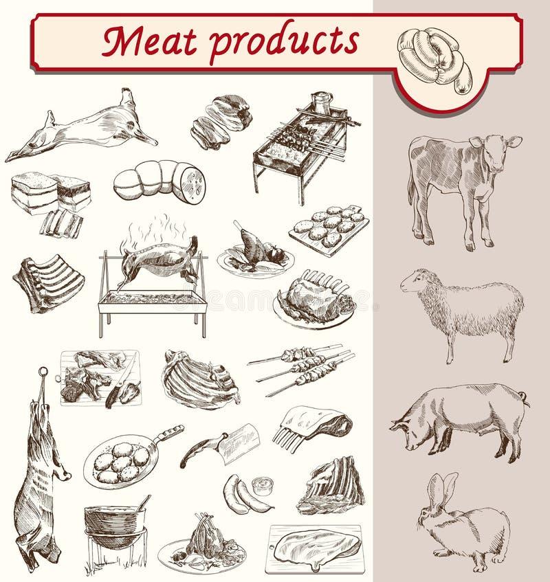 Bon oskomy mięśni produkty ilustracji