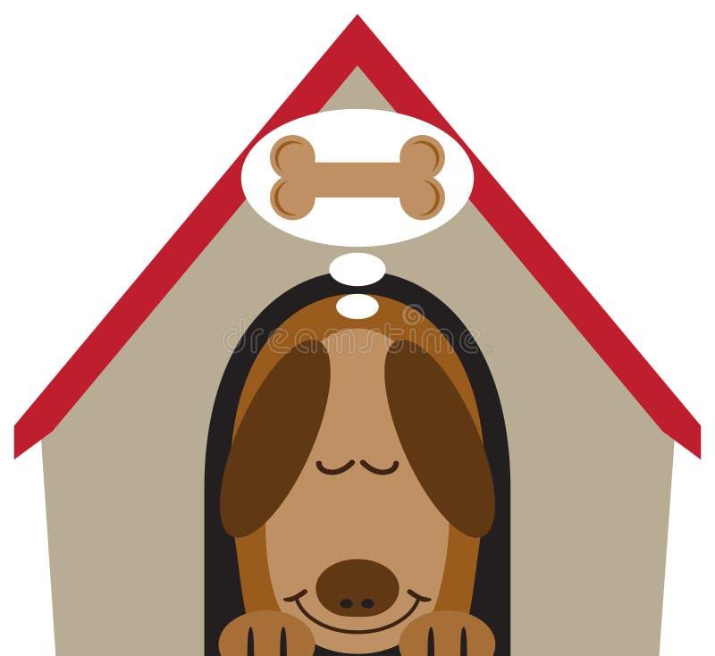 Bon rêve de chien illustration libre de droits