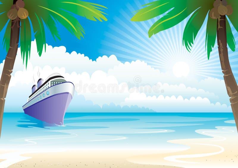 Bon Voyage. Vacation, vector illustration layers file