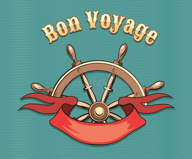 Bon Voyage vektor illustrationer