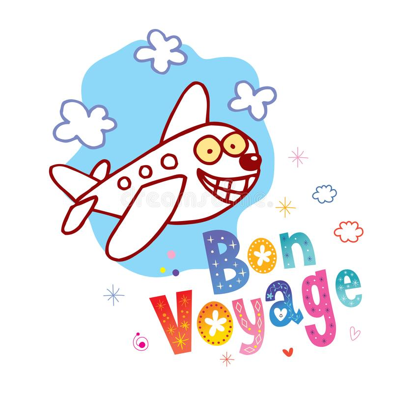 Bon Voyage - hebben een aardige reis in het Frans royalty-vrije illustratie
