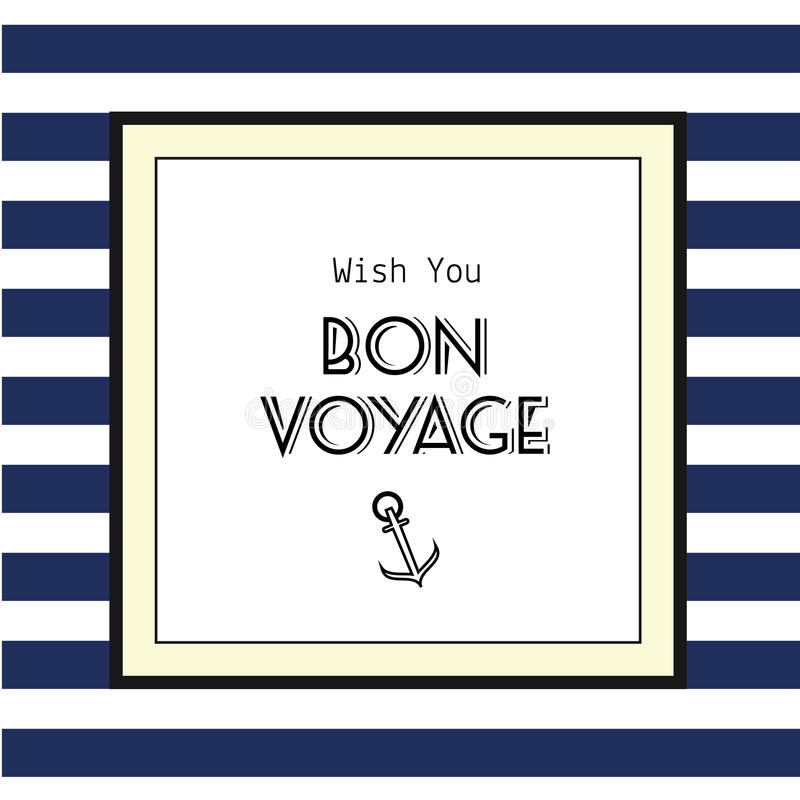 Bon Voyage kort stock illustrationer