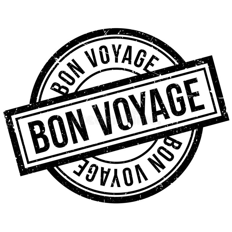 Bon Voyage rubber stamp. Grunge design with dust scratches. Effects can be easily removed for a clean, crisp look. Color is easily changed vector illustration