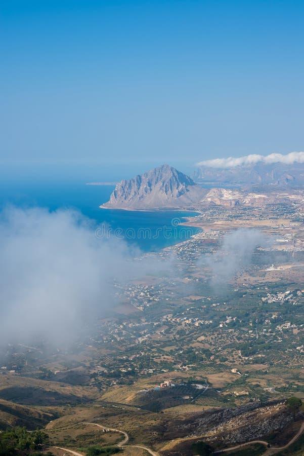 Bonagia和Monte Cofano海湾  意大利西西里岛trapani 免版税图库摄影