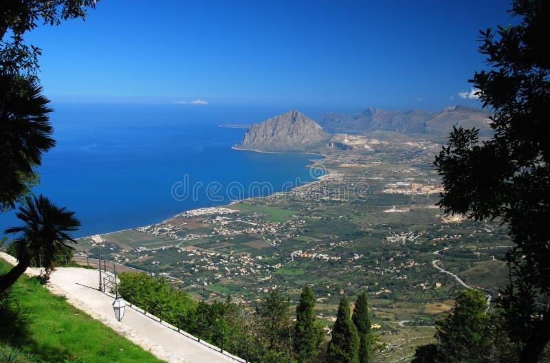 bonagia海湾西西里岛 库存图片