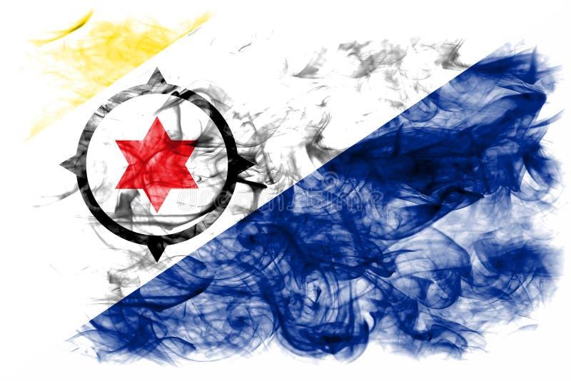 Bonaire rökflagga, nederländsk beroende territoriumflagga royaltyfri fotografi