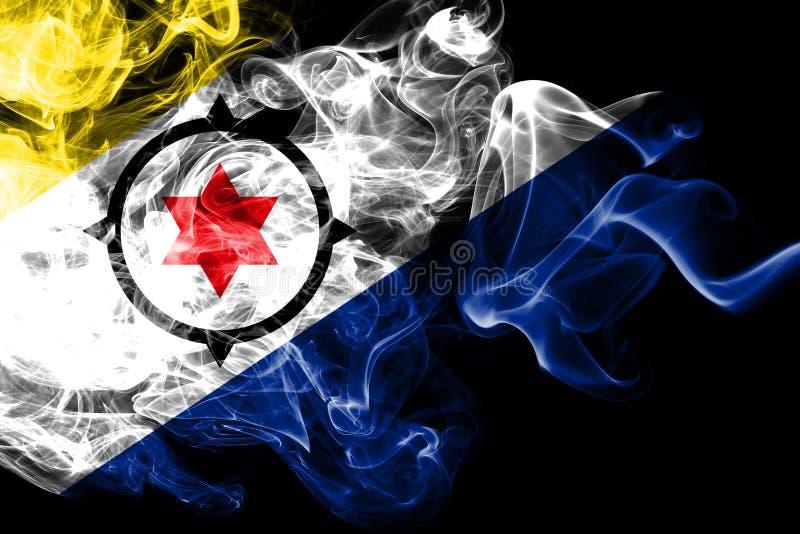 Bonaire rökflagga, nederländsk beroende territoriumflagga vektor illustrationer