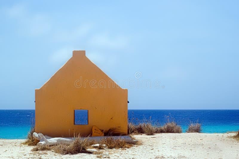 bonaire slavehut żółty fotografia stock
