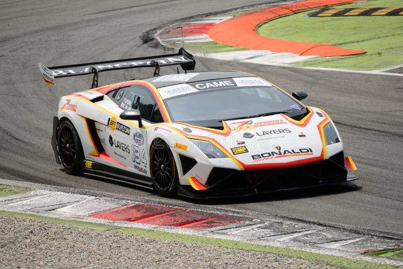Bonaldi Motorsport Lamborghini Gallardo意大利GT 2015年在蒙扎 库存图片