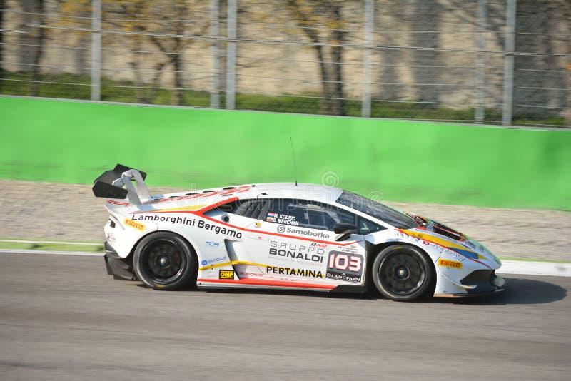 Bonaldi Motorsport Lamborghini Huracà ¡ n超级Trofeo 2016年 库存图片