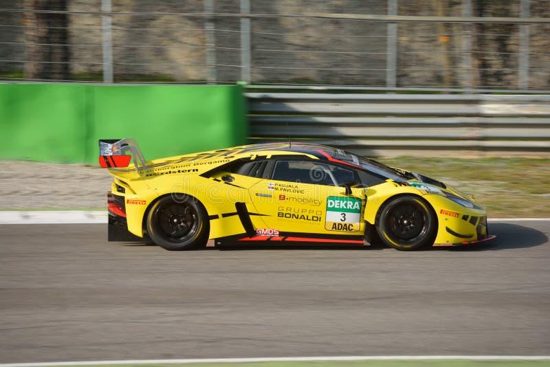 Bonaldi Motorsport Lamborghini Huracà ¡ n GT3 2016年 免版税库存图片