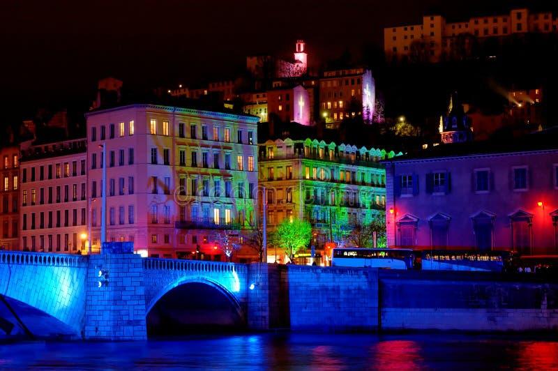 bonaparte France rzeka Saone bridge Lyon zdjęcia royalty free