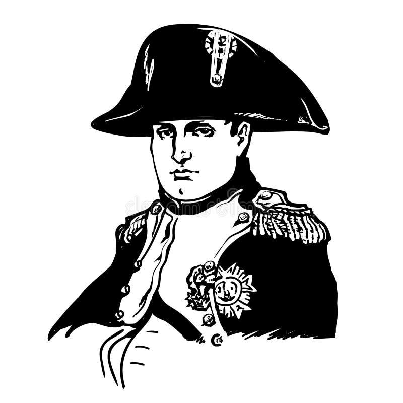 bonaparte napoleon иллюстрация вектора