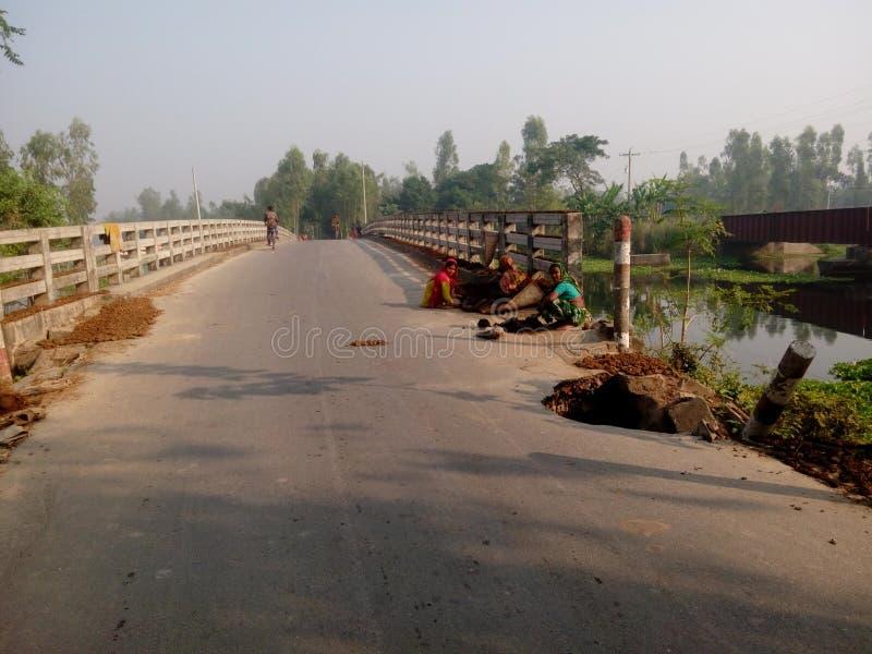 Bonarpara Batista Bridge fotografia de stock