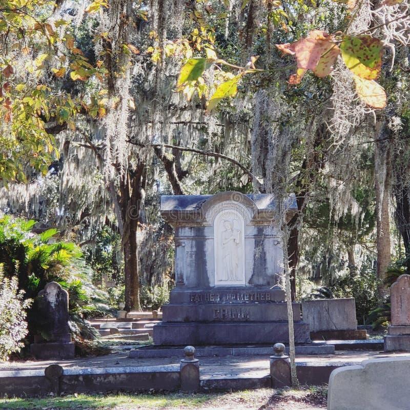 Bonaventure Cemetery i Savannah Georgia royaltyfri foto