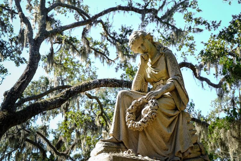 Bonaventure Cemetery storico in Savannah Georgia U.S.A. immagine stock