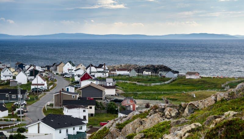 Bonavista, Ньюфаундленд, Канада, на средний день overcast лета стоковое изображение