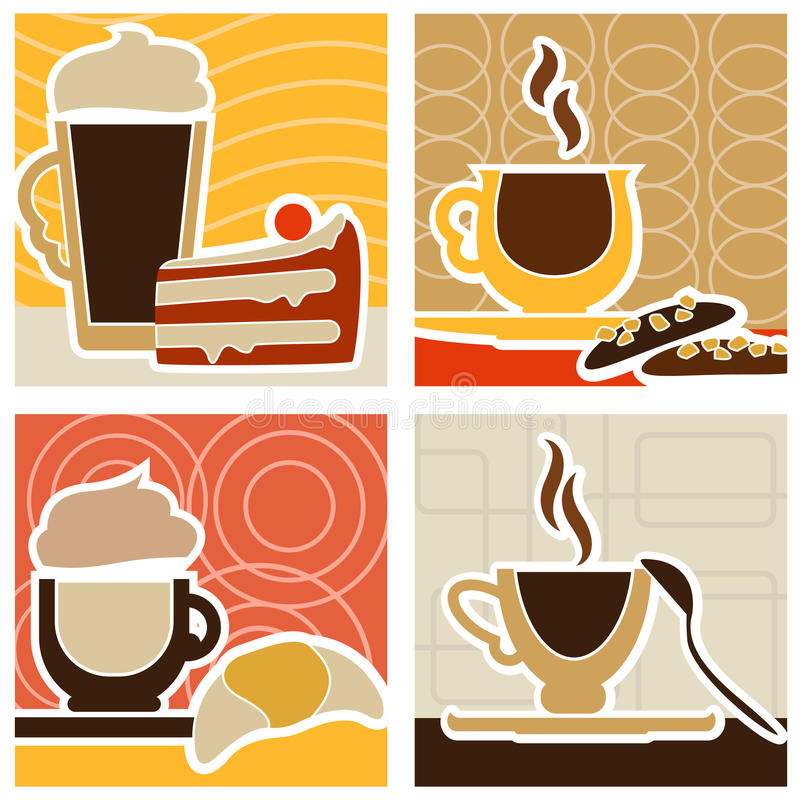 bonbon à conception de café illustration stock