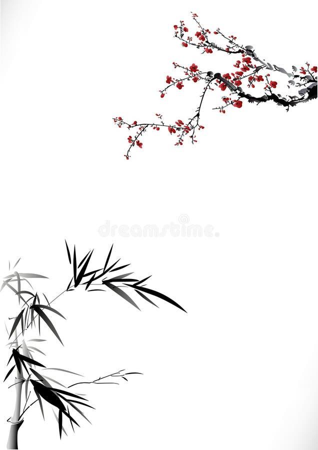 Bonbon à hiver en bambou illustration libre de droits