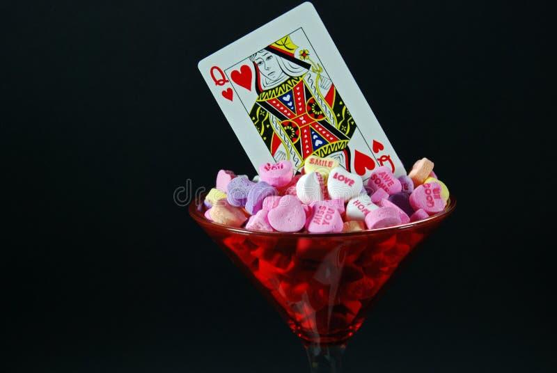 bonbon à reine de coeur image stock