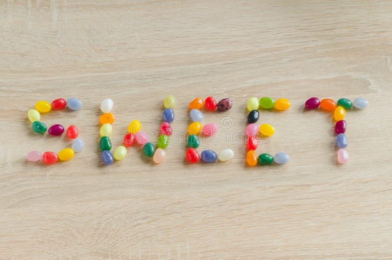 Bonbon à Word des dragées à la gelée de sucre photographie stock
