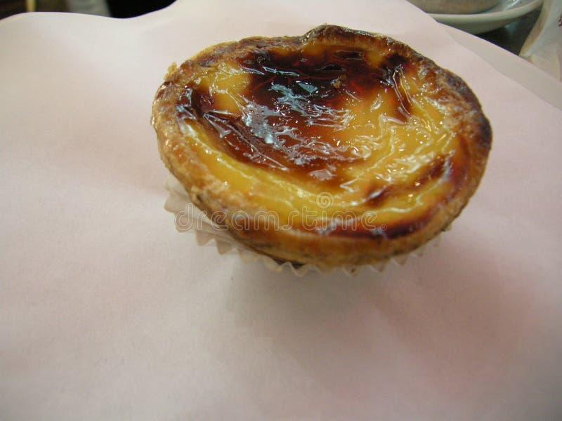 Bonbon au goût âpre stupéfiant à crème anglaise portugaise de dessert images libres de droits