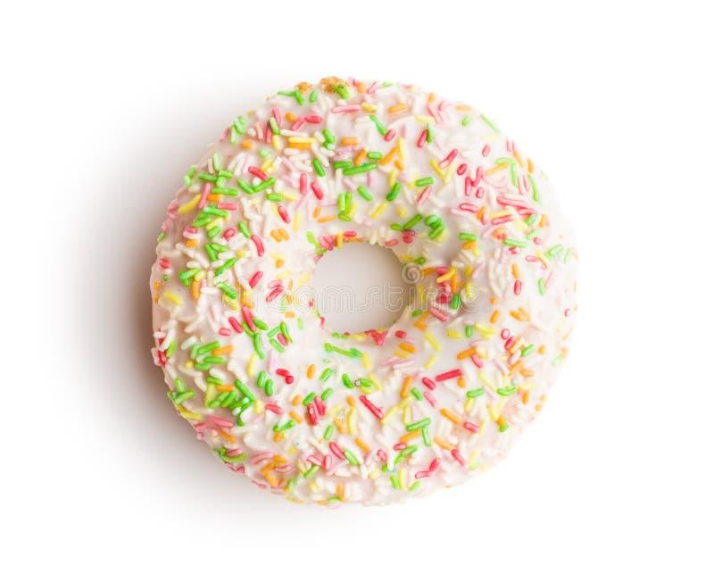 Bonbon besprühter Donut stockbild