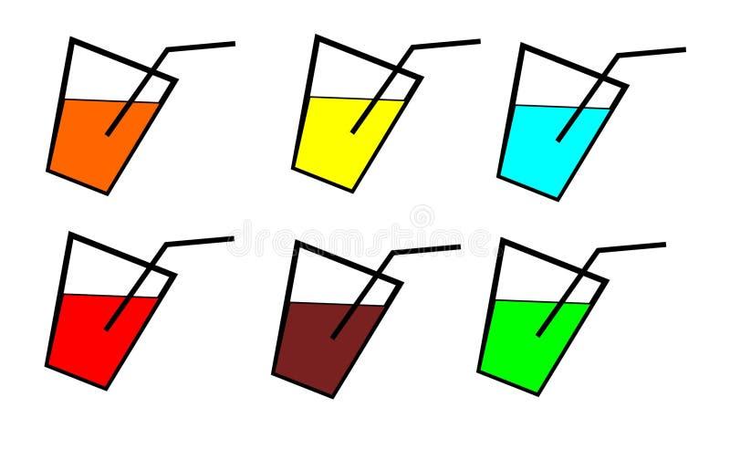 Bonbon en verre à l'eau illustration stock