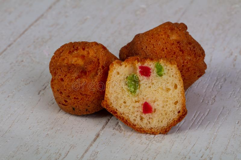 Bonbon gebackene Muffins lizenzfreies stockfoto