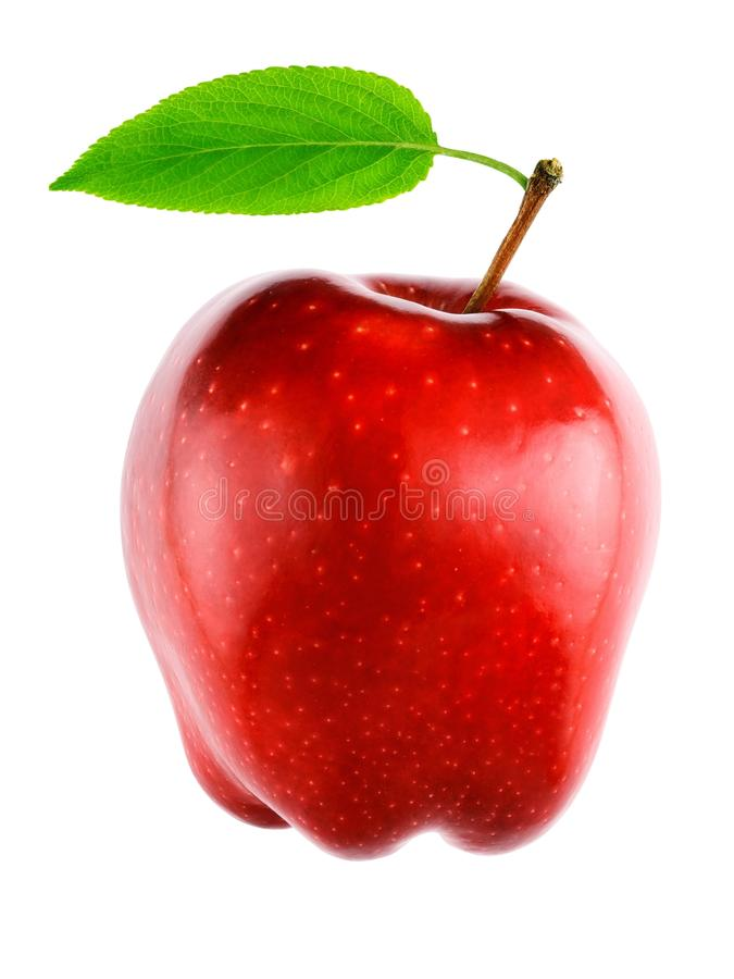 Bonbon, pomme rouge fraîche d'isolement photographie stock