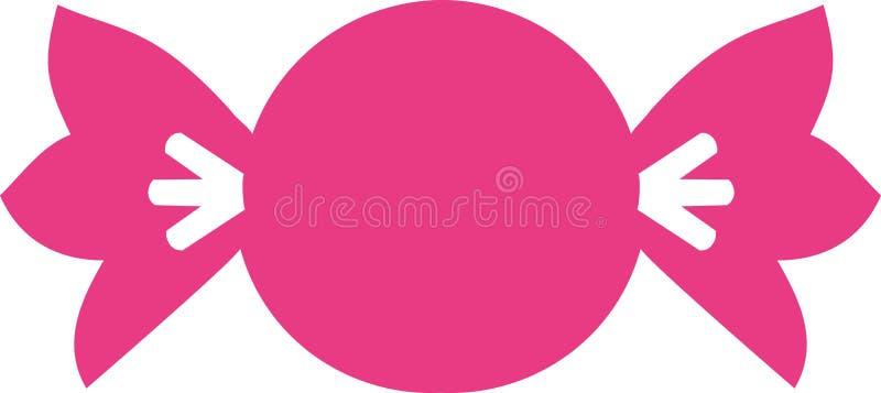 Bonbon rose de bonbons à sucrerie illustration de vecteur