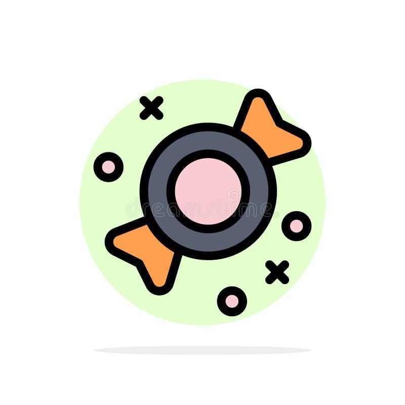 Bonbon, Süßigkeit, Bonbons extrahieren flache Ikone Farbe des Kreis-Hintergrundes vektor abbildung