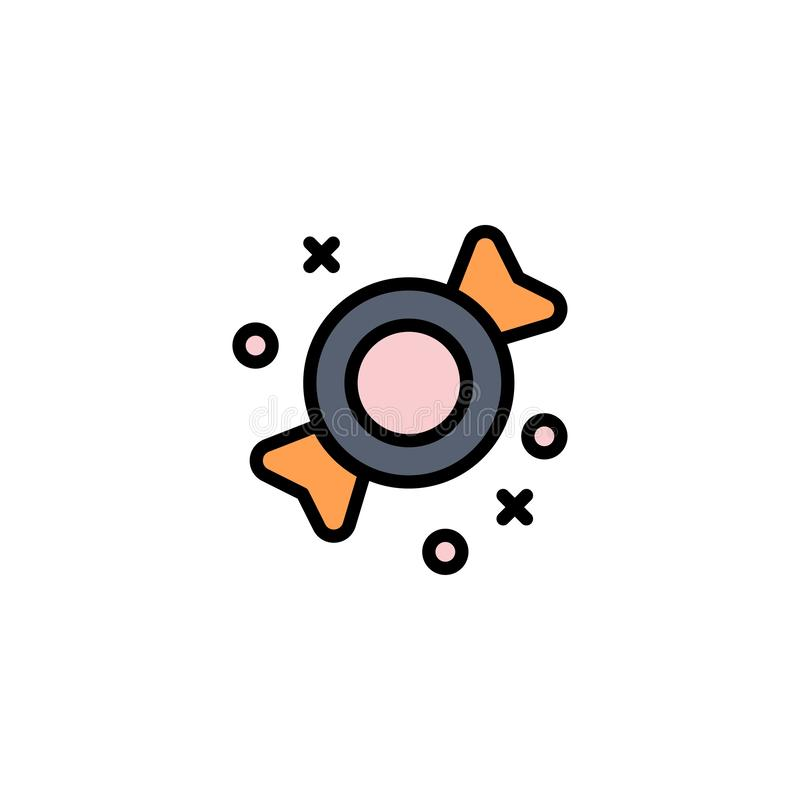 Bonbon, Süßigkeit, Bonbon-Geschäft Logo Template flache Farbe vektor abbildung