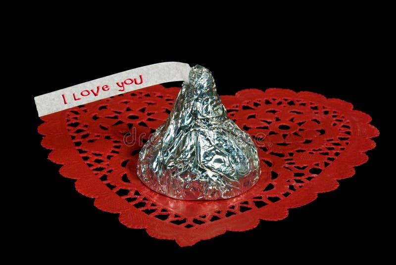 Bonbon sur l'amour photo stock