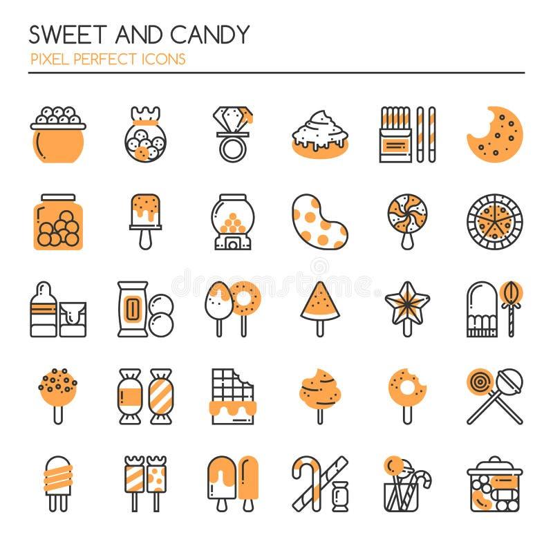 Bonbon und Süßigkeit vektor abbildung
