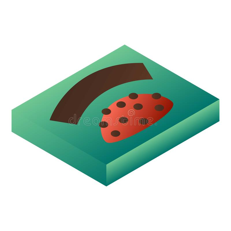 Bonbon zieleni pudełka ikona, isometric styl royalty ilustracja