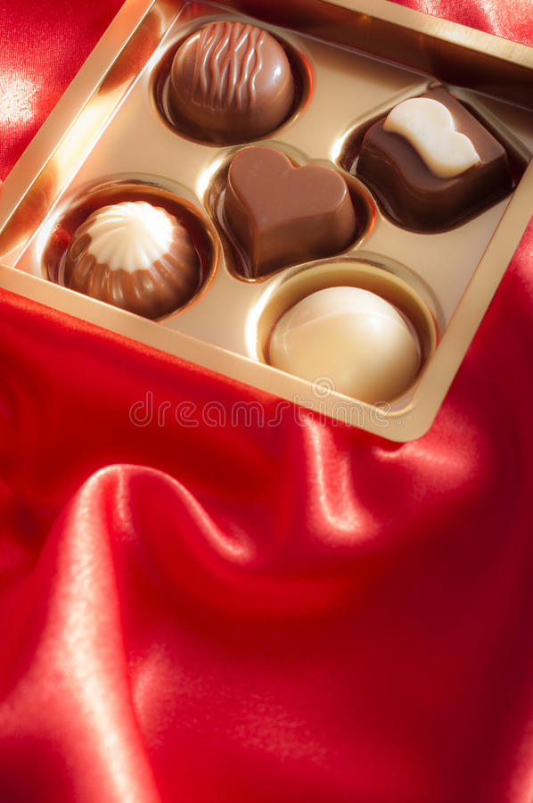Bonbons à luxe de St Valentine photo stock