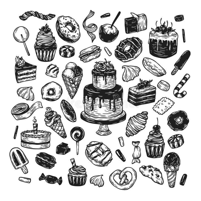 Bonbons à vecteur illustration stock