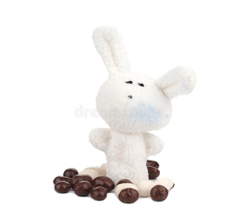 Bonbons кролика и шоколада пасхи стоковые фото