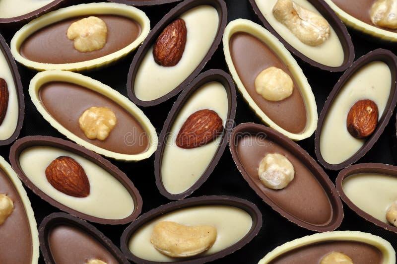 Bonbons au chocolat assortis photos libres de droits