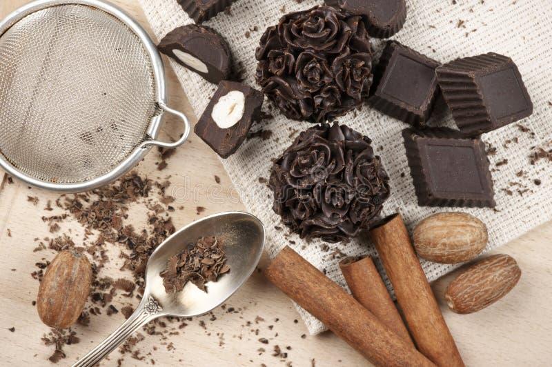 Bonbons au chocolat faits maison image libre de droits