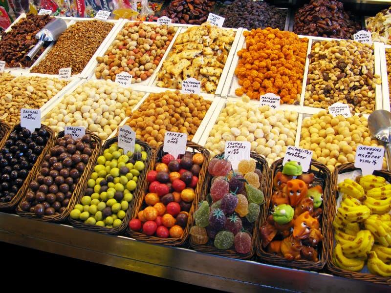 Bonbons au marché photo libre de droits