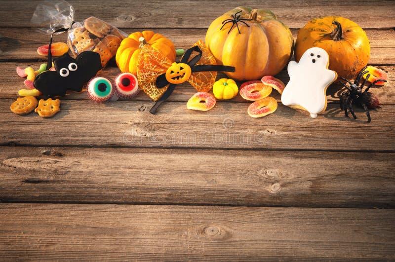 Bonbons für Halloween Trick oder Festlichkeit stockfotos