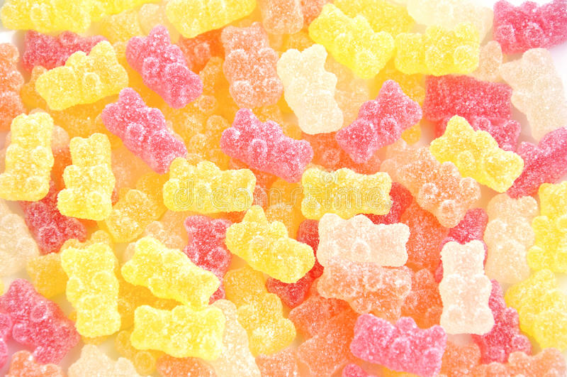 Bonbons multicolores à gelée. images stock